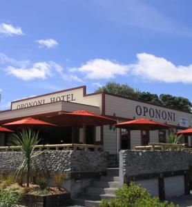 Opononi Hotel, Opononi, New Zealand - a nice little place to stay, right on the beach