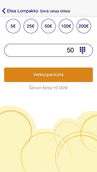 Elisa Wallet - Renewal: Transfer money (iOS)
