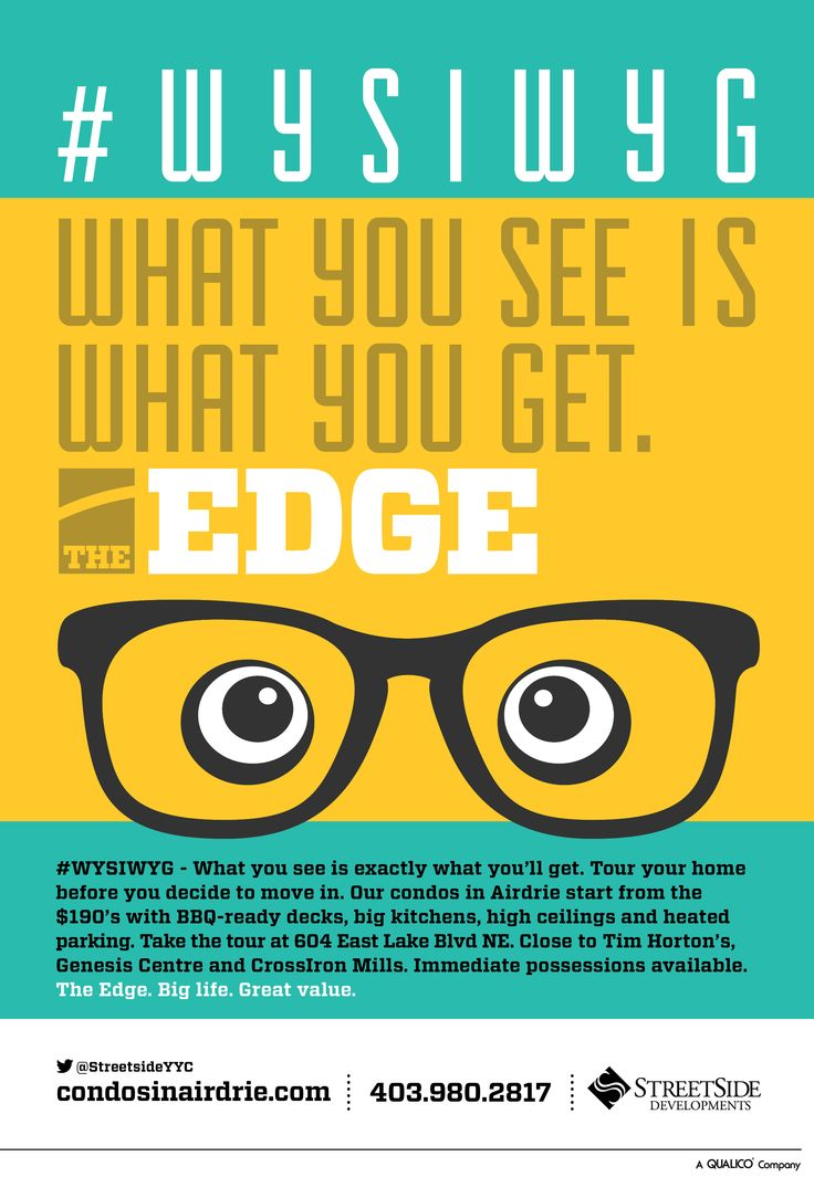 #WYSIWYG campaign for The Edge by Streetside Developments