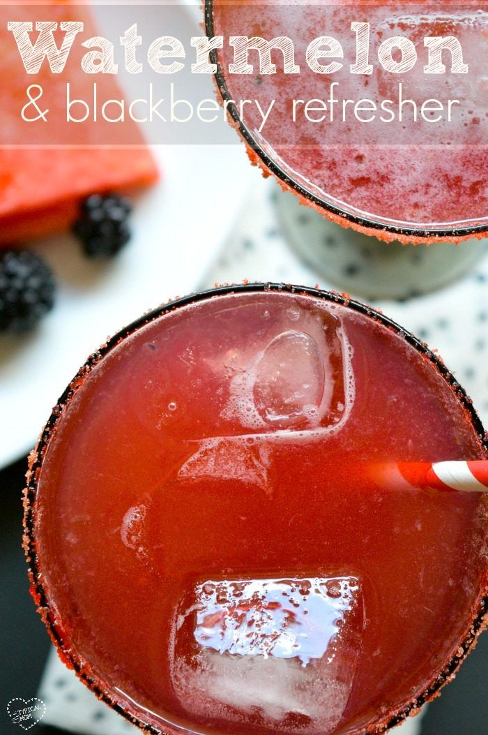 Watermelon and blackberry drink! Can make it spiked or non alcoholic for the kids, great during the summer!!