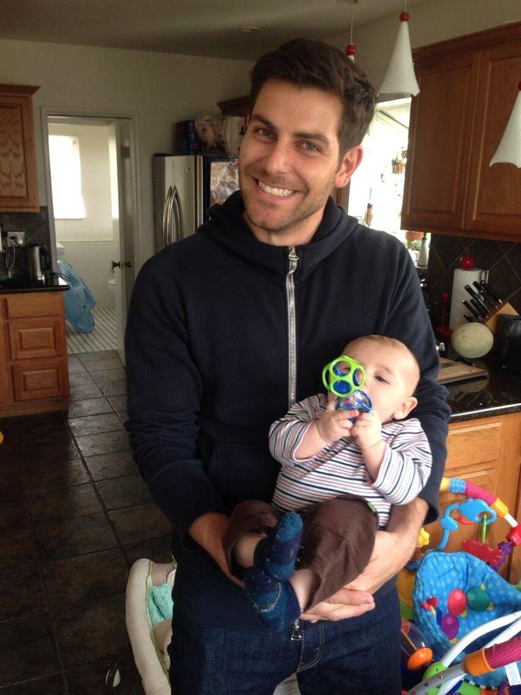 David Giuntoli and a baby