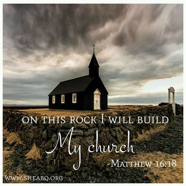 """. ..and on this rock I will build My church, and the gates of Hades shall not prevail against it."" (Matthew 16:18) We have been given the keyes to the kingdom of Heaven by Jesus Christ Our Lord! . . #sheabq #thankful #keystothekingdom #church #cornerstone #hope #grace #Petra #faith #scripture #sheministries"