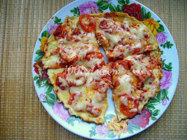 Диетическая пицца на сковороде.