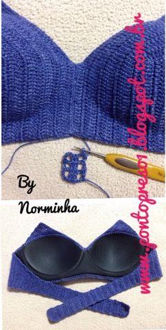 Ponto Preso1: Croche - Biquini Parte 2 - Busto com Bojo