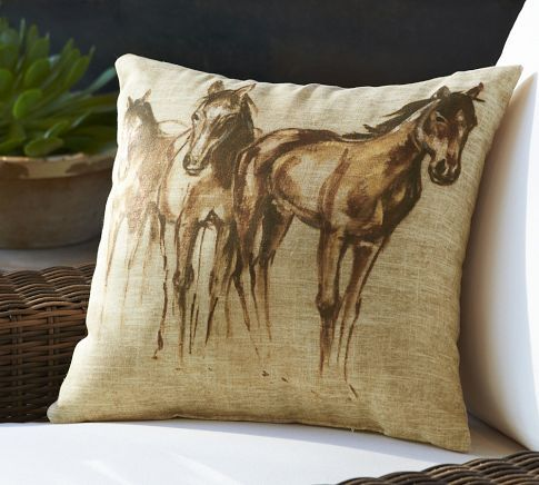 Decorative Pillows Horses : 593 best images about Equestrian Decor on Pinterest Ralph lauren, Equestrian style and Tack rooms