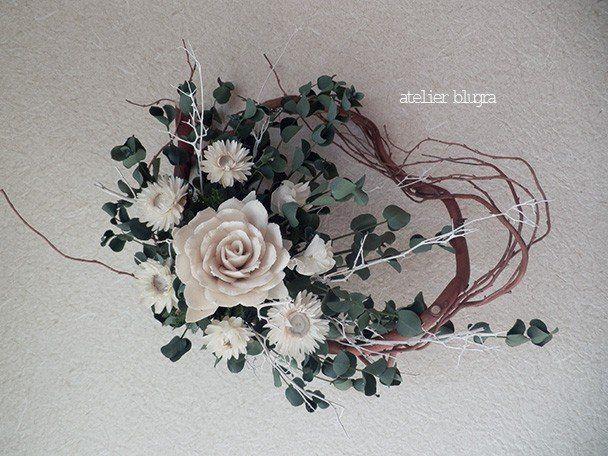 atelierBLUGRA八ヶ岳〜ユーカリとソラフラワーのWreath001 - アトリエ ブルグラ