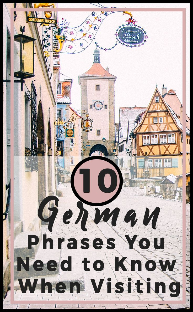 The top 10 german phrases you need to know when visiting the city. How to say thank you in German and more! Here's what you need to know to say in German plus some fun phrases. #german #germanlanguage #traveltips #travelhacks #germanytravel