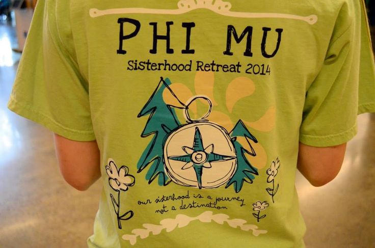 How cute would this be for a sisterhood retreat shirt for any sorority?…