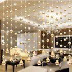 1Pcs 1M Glass Crystal Bead Curtain Fashion Luxury Home Living Room Beauty Decors