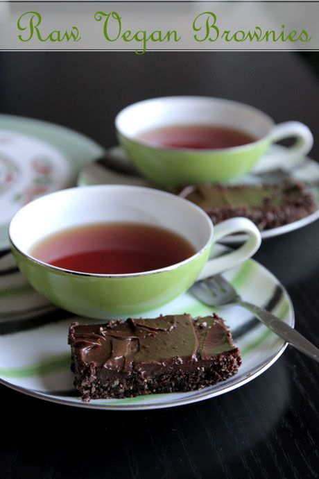 Raw Chocolate Brownies with Chocolate Avocado Frosting
