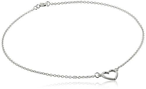 Anklets – Sterling Silver Open Heart Anklet 9,5 inches – a unique product by clutchandclasp-rose on DaWanda
