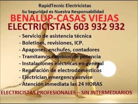 Electricistas BENALUP CASAS VIEJAS 603 932 932 Baratos