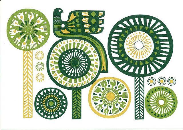 Marimekko Design Sanna Annukka - Greeting card 1 by PCmarja2006, via Flickr