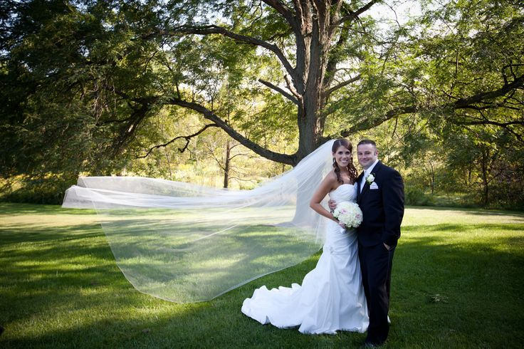 108 inches - The Chelsea veil -  2 tier cathedral circular/drop wedding veil, bridal veil with blusher. $58.00, via Etsy.