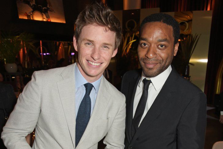 Pin for Later: 42 Pictures of Hot British Actors Being Hot Together  Eddie Redmayne and Chiwetel Ejiofor caught up on some post-Oscars gossip at the OMEGA dinner in 2015.