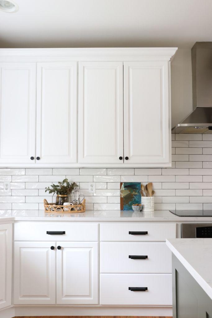 Earthy Coastal White Kitchen Reveal Budget Friendly Kitchen Renovation Simple Kitchen Remodel New Kitchen Cabinets
