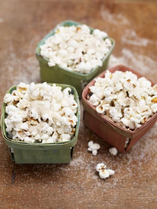 Spiced Christmas Popcorn - could use our nutribullet to make the topping for this! - Jamie Oliver Recipes