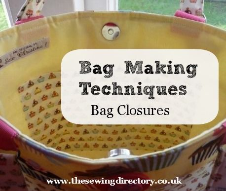 What Closures To Use On Your Bag Do Not Want If You Put Laptop Tablet Etc Because Of The Magnet Sew Bags Making Purses