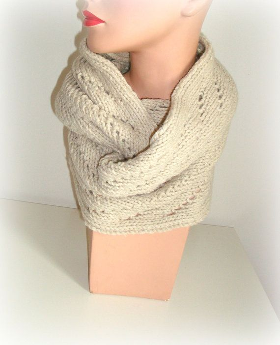 SALE Hand Knit Infinity Scarf Cowl  Handmade Cowl by InkaBoutique, $35.00