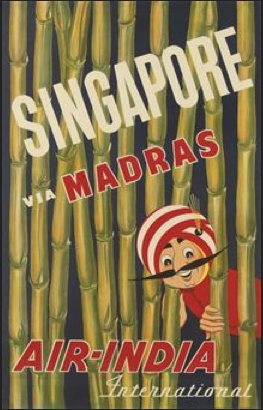 Singapore via Madras - Air India