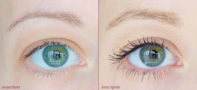 Gamme Scandaleyes by Kate Moss (Rimmel London) - Mascara Avant/Après Sans/Avec #blog #beaute #maquillage #makeup #yeux #mascara #noir #eyerockjetblack #bleu #marine #eyerocksapphire #mauve #violet #aubergine #eyerockamethyst #vert #emeraude #eyerockemerald #scandaleyes #bykate #rimmel #rimmellondon #revue #test #avis #swatch #swatches…