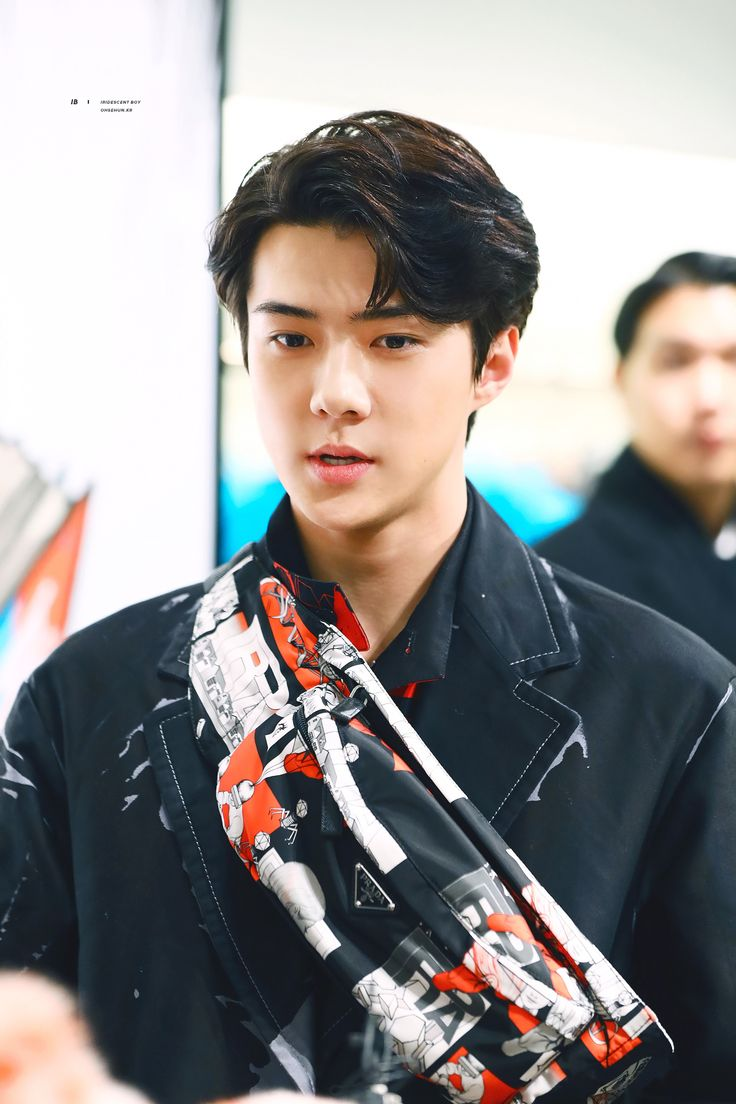 [HQ] 180207 Sehun at Prada Launching Event . Cre by IB