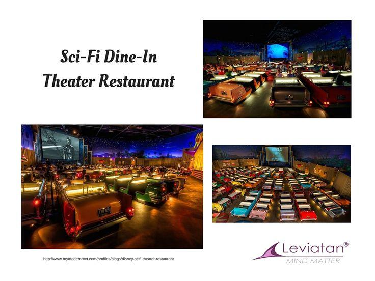 Design-ul restaurantului transpune vizitatorii în perioada anilor 50, pe când erau la modă cinematografele drive-in.