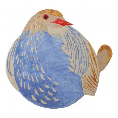 Petronia Bird Rug Multicoloured  Little Cabari