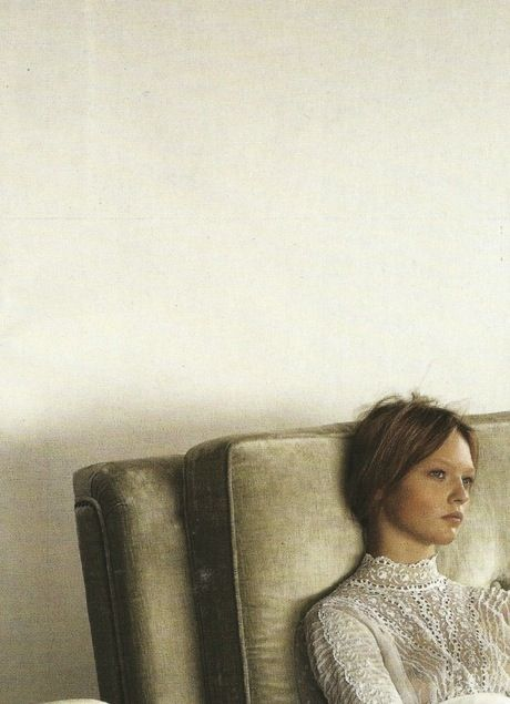 Sasha Pivovarova by Steven Meisel, Vogue Italia, march 2006- has faint look of the beautiful Kate Moss