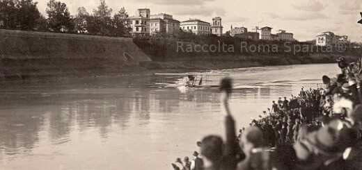 AMMARAGGIO SUL TEVERE   FRANCESCO DE PINEDO 1925 RITORNO DALL'AUSTRALIA
