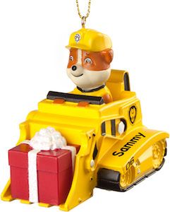 PAW Patrol Rubble Personalized Christmas Ornament - http://www.thlog.com/paw-patrol-rubble-personalized-christmas-ornament/