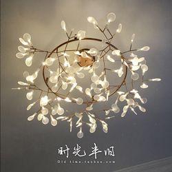 Nordic творческая личность Арт-кафе после того, как светлячок люстра современной гостиной листьев люстра столовой