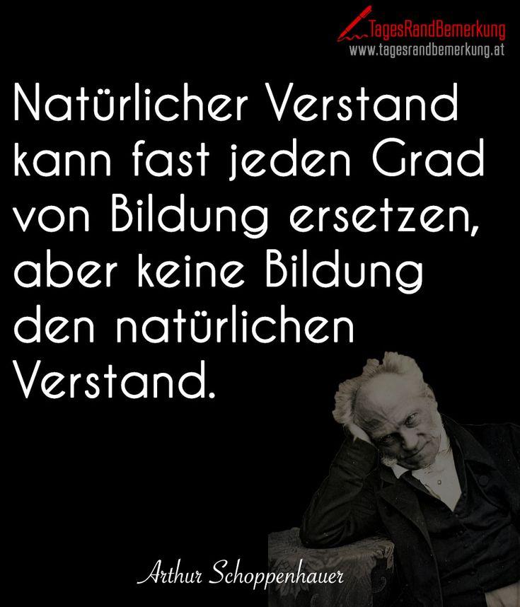 Natürlicher #Verstand kann fast jeden Grad von #Bildung ersetzen, aber keine Bildung den natürlichen Verstand.