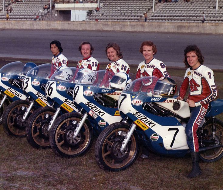 Suzuki Racing Team Daytona 1974: Barry Sheene, Gary Nixon, Cliff Carr, Paul Smart, Ken Araoka