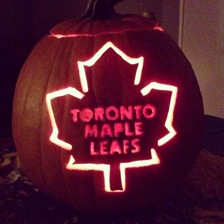Toronto maple leafs pumpkin carving stencil theleaf