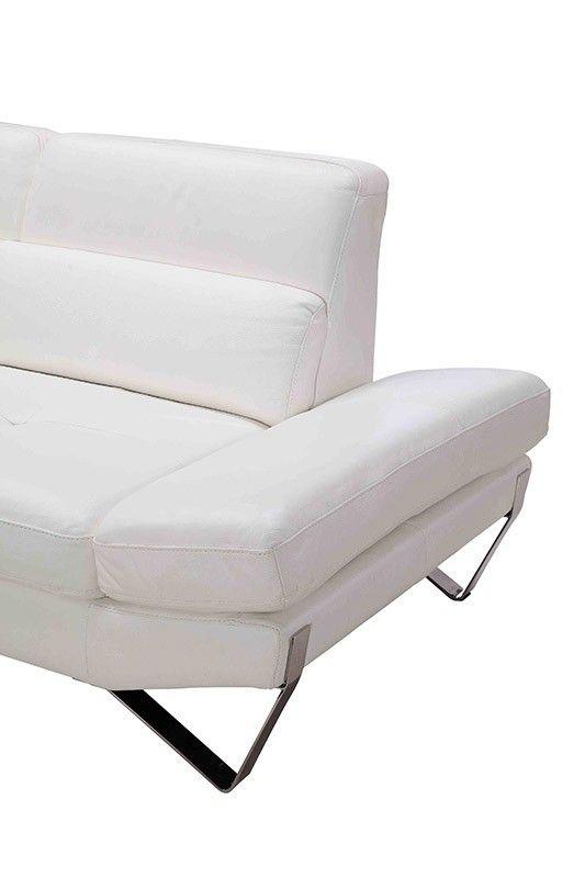 stylish design furniture divani casa 833 modern white full leather sectional sofa