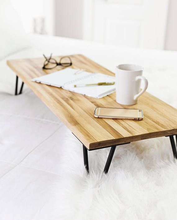 Lounging In Bed Couldnt Be Easier With Our Oversized Breakfast Tray Theres Plenty Of Room For Your Breakfast Coffee And A Notebo Bed Table Furniture Bed Tray