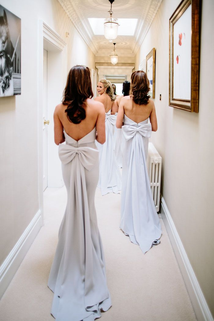 Wedding of the Week: Ruby Clay and Stephen Shaw | Oversize bows on bridesmaids' dresses | bridemagazine.co.uk