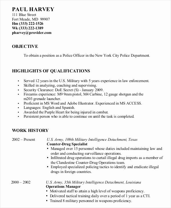 Resume For Retired Person Best Of Military Resume 8 Free Word Pdf Documents Download In 2020 Sample Resume Resume Resume No Experience