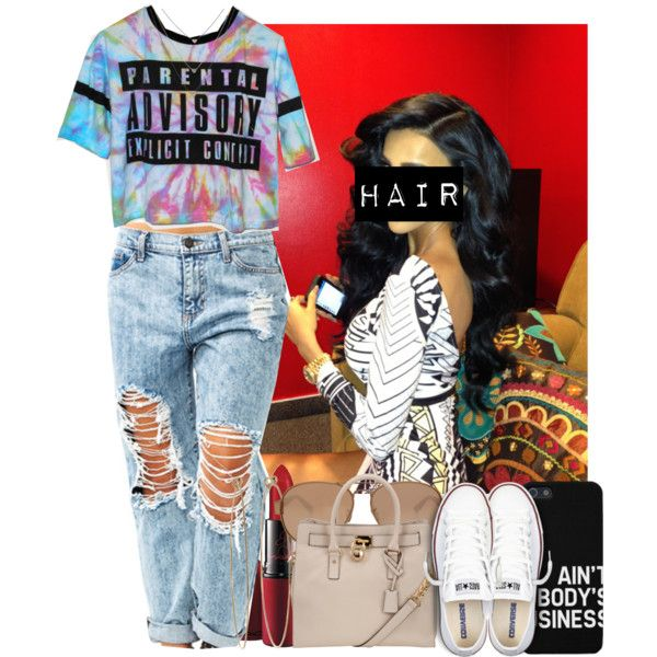 A fashion look from March 2014 featuring Converse sneakers, MICHAEL Michael Kors tote bags and Dean Harris earrings. Browse and shop related looks.