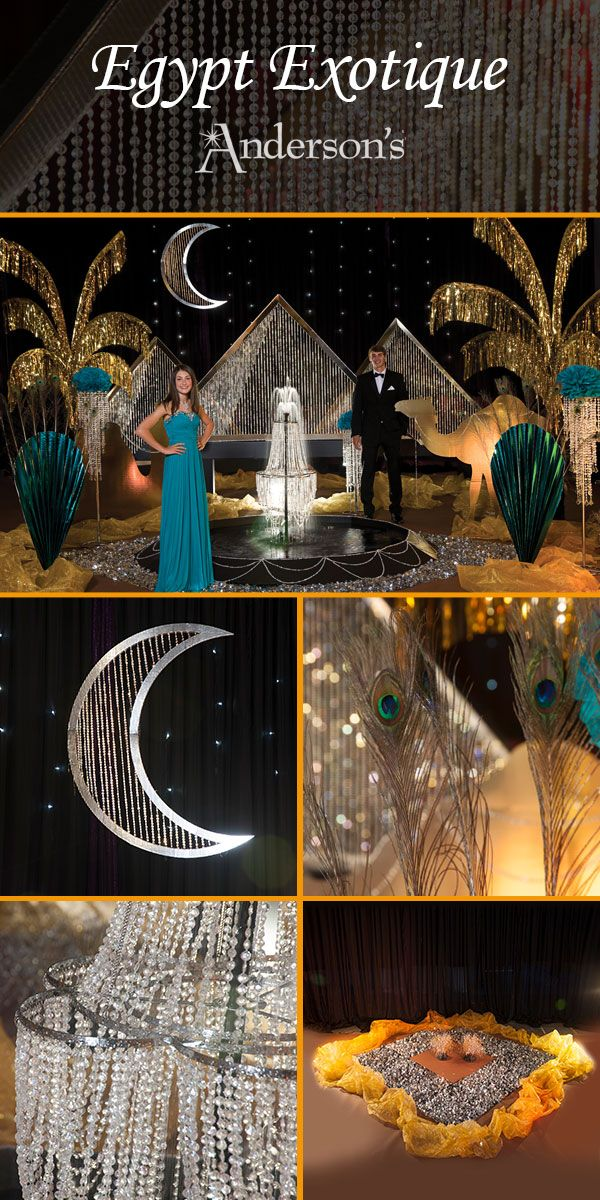 On The Nile With This Glittery Egypt Exotique Complete Theme That Includes Props To Give