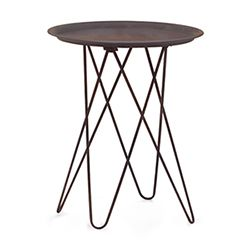 Punk Black and Metal Side Table