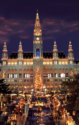 Christmas in Vienna , Austria-I had been there! Unforgettable