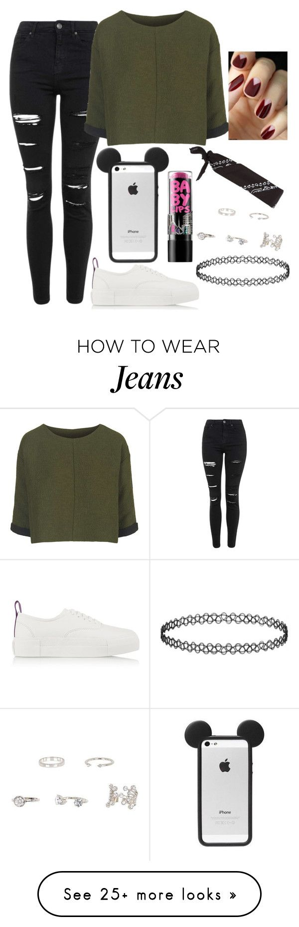 """""""Untitled#1334"""" by mihai-theodora on Polyvore featuring Topshop, Eytys, Maybelline and River Island"""