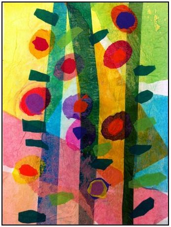 """The smARTteacher Resource: 3rd Grade """"May Flowers Bring April Tissue Paper Collage Flowers"""""""