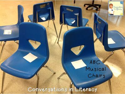 Musical Chairs with ABC cards & other abc letter activities