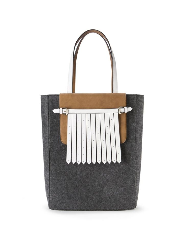 Fringed Pocket Tote