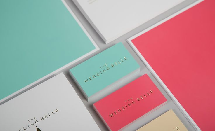 Pastel colour stationery with a gold foil detail designed by Ghost for wedding planner The Wedding Belle.