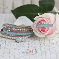 2 DAY TEMPTATION MAY I can't say 'I do' without you! Dazzle your bridesmaids with this month's Two-Day Temptation featuring a gorgeous Pool Blue Crystal Beaded Wrap, a timeless Silver 'Love' Bar Necklace and a pair of Silver Tone South Hill Flower Stud Earrings. Get all these fabulous finds for 30% off!