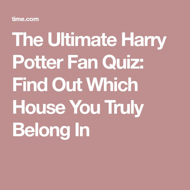 The Ultimate Harry Potter Fan Quiz: Find Out Which House You Truly Belong In